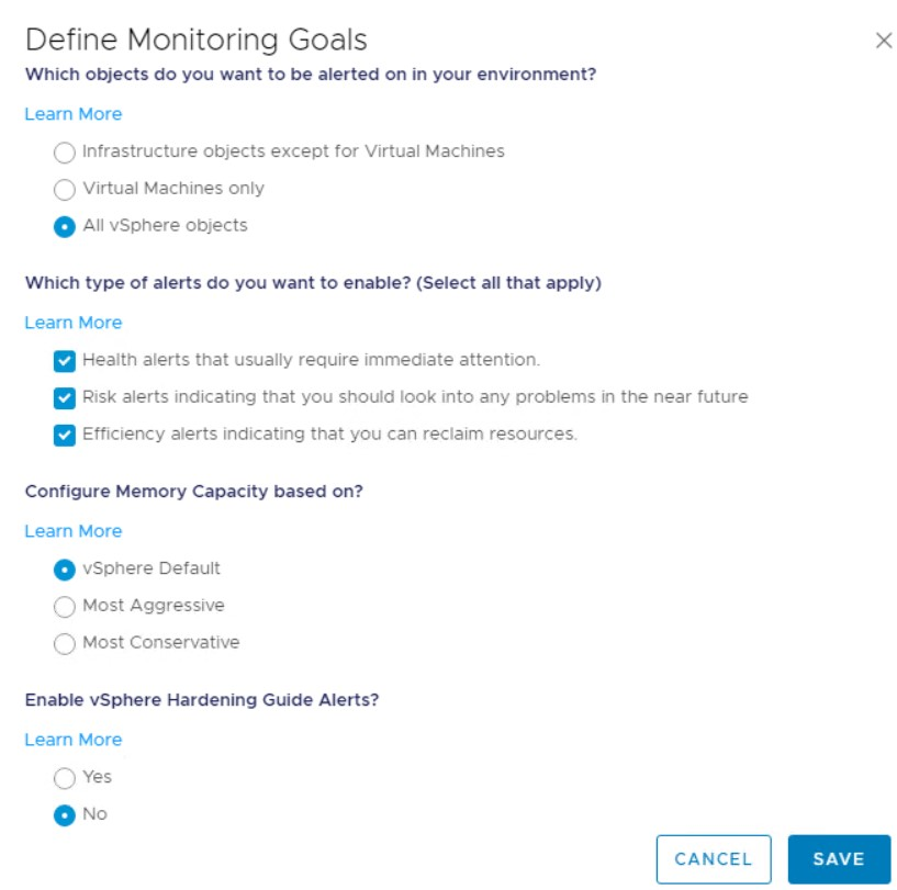 vROPS-Monitoring Goals