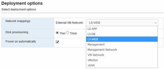 New VM - network