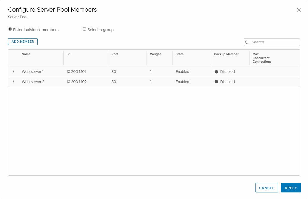 Add Pool Members