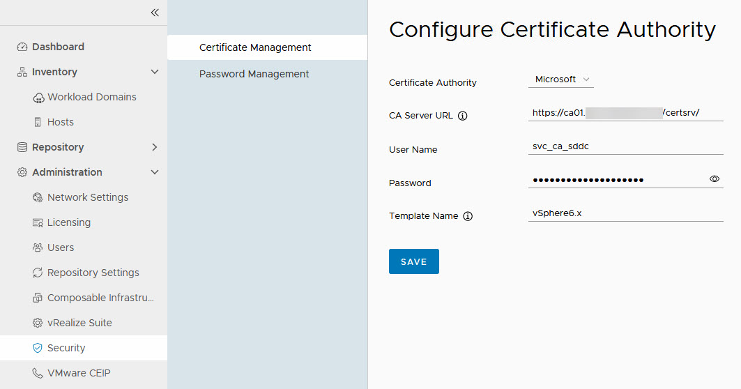 certificate config