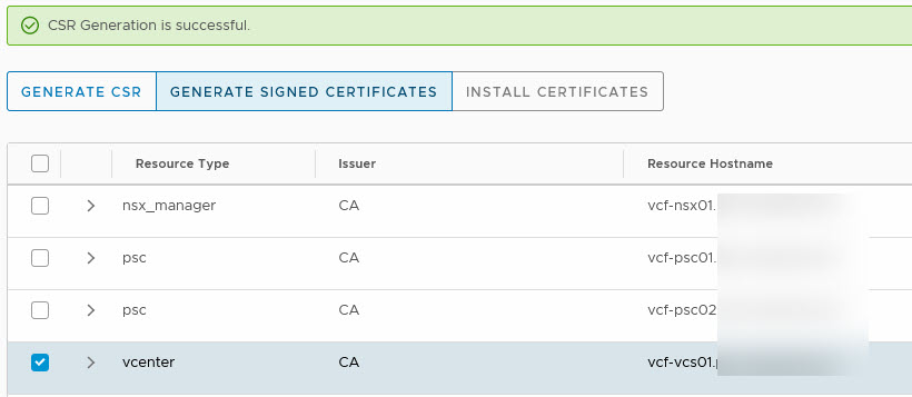 generate certificate 1