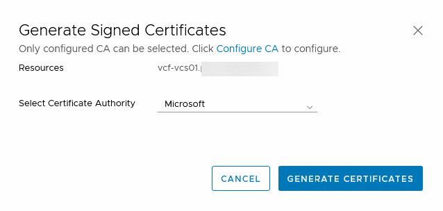 generate certificate 2