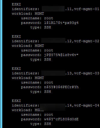 passwords esxi