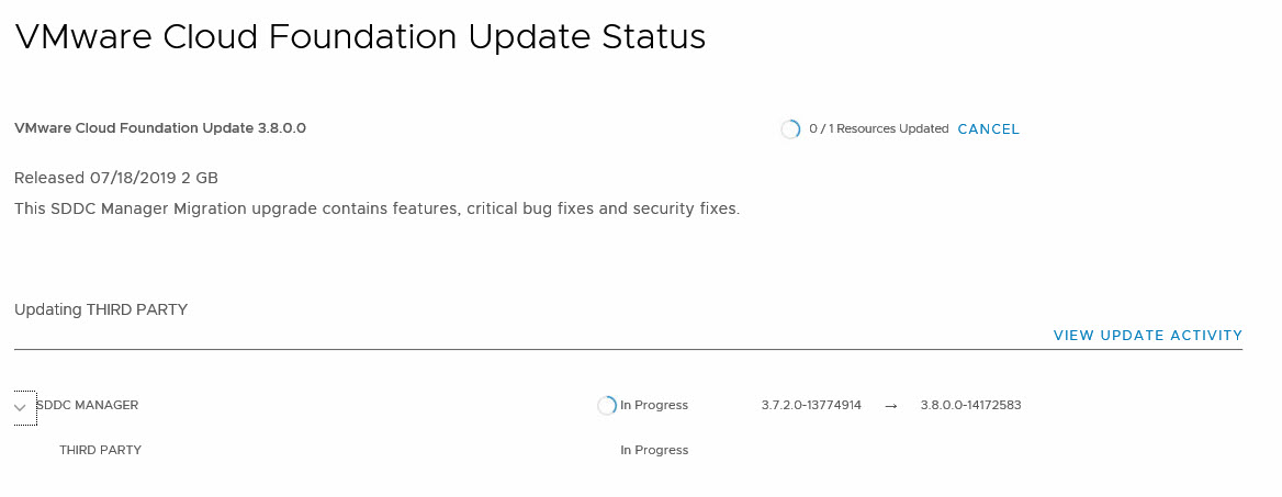 upgrade sddc manager